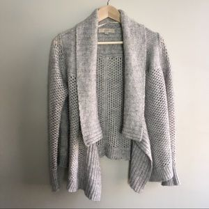 LOFT Open Shawl Neck Cardigan Wool Blend